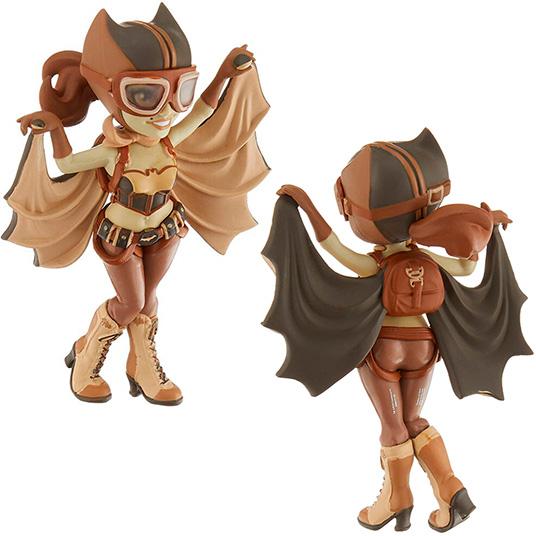 Figura Rock Candy DC de Batgirl de Bombshells en color sepia de cara y de culo